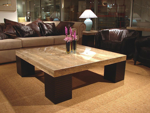 Stone International - Square Cocktail Table - 8043