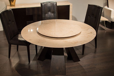 Stone International - Butterfly Wood Round Dining Table - 9697/59