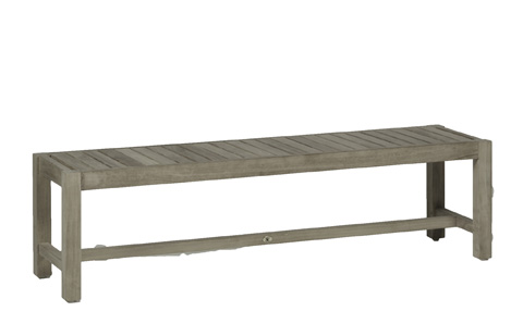Image of Club Teak Backless Bench