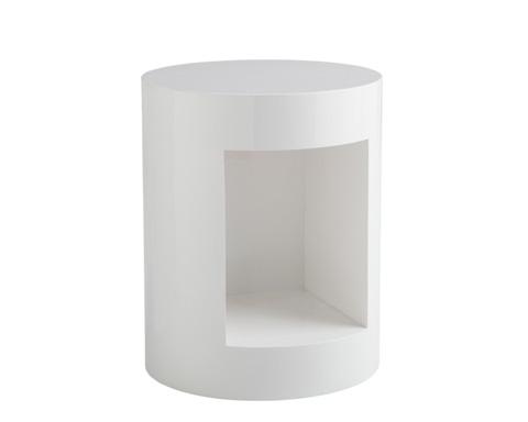 Sunpan Modern Home - Beacon End Table in White - 14356