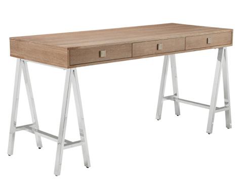 Sunpan Modern Home - Embassy Desk in Driftwood - 53577