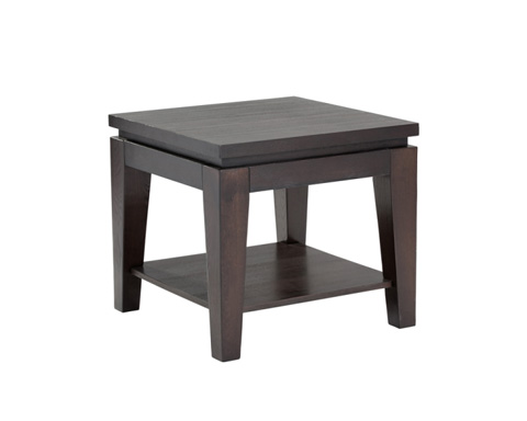 Sunpan Modern Home - Asia Square End Table with Shelf - 63786
