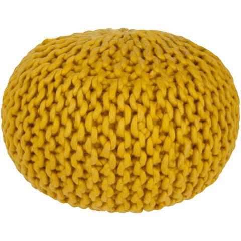 Surya - Yellow Fargo Pouf - FGPF-006