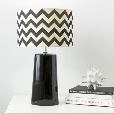 Surya - Black Gabby Lamp - GBLP-001