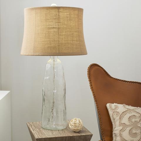 Surya - Clear Glass Lamp - LMP-1011
