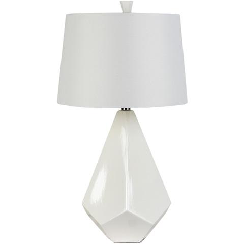 Surya - White Table Lamp - LMP-1016