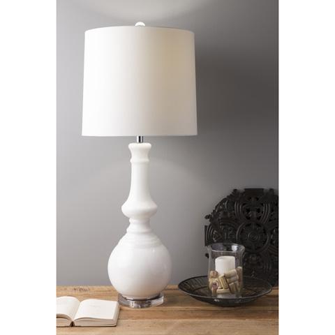 Surya - White Table Lamp - LMP-1053