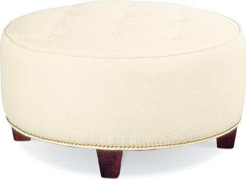 Thomasville Furniture - Brooklyn Round Button Top Ottoman - 1828-16N1