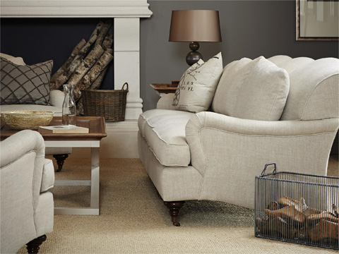 Image of Churchill Sofa in Belgian Linen