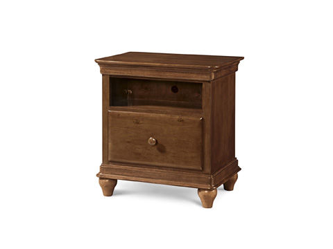 Image of Saddle Brown One Drawer Nightstand