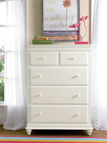 Universal - Smart Stuff - Summer White Five Drawer Chest - 131A010