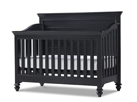Image of Black and White Convertible Crib