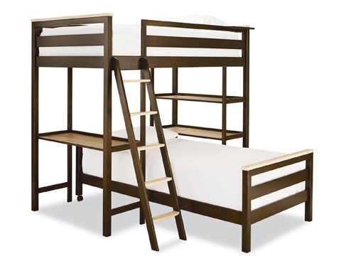 Image of Metal Loft Twin Bunk Bed