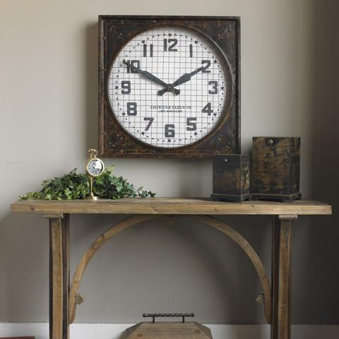 Uttermost Company - Warehouse Wall Clock w/Grill - 06083