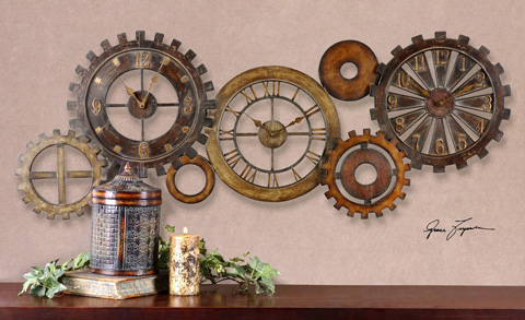 Uttermost Company - Spare Parts Wall Clock - 06788