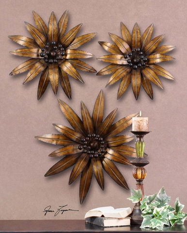 Uttermost Company - Golden Gazanias Metal Wall Art - 13479