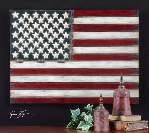 Uttermost Company - American Flag Metal Wall Art - 13480