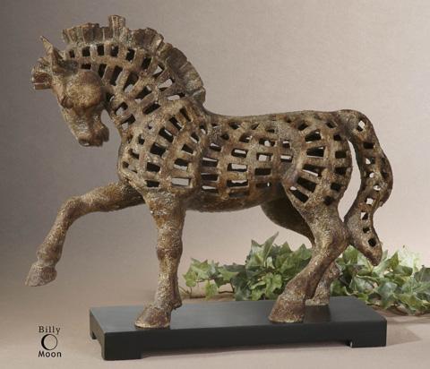 Uttermost Company - Prancing Horse Antique Sculpture - 19217