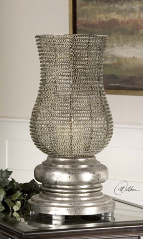 Uttermost Company - Rickma Antique Silver Candleholder - 19413