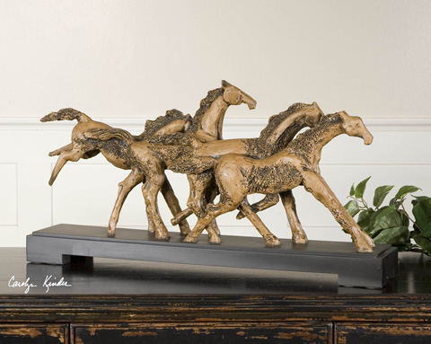 Uttermost Company - Wild Horses Rustic Sculpture - 19452