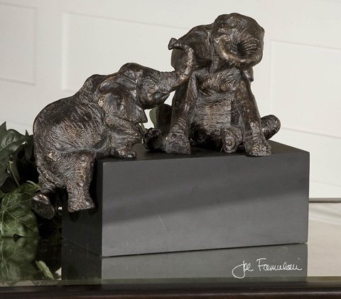 Uttermost Company - Playful Pachyderms Bronze Figurines - 19473