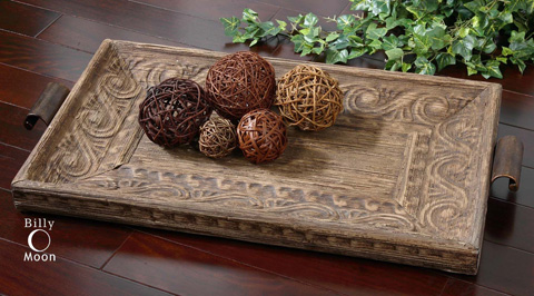 Uttermost Company - Camillus Wood Framed Decorative Tray - 19494