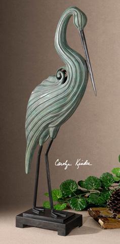 Uttermost Company - Keanu Blue-Green Heron Sculpture - 19566