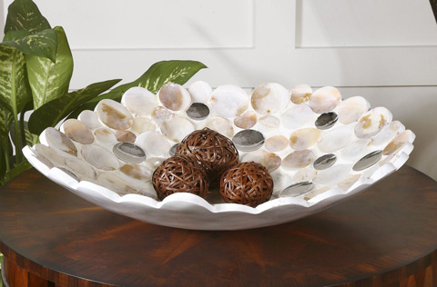 Uttermost Company - Capiz Shell Accented Bowl - 19617