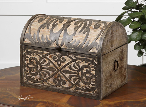 Uttermost Company - Abelardo Rustic Wooden Box - 19709