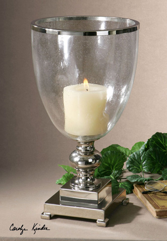 Uttermost Company - Lino Clear Glass Candleholder - 19718