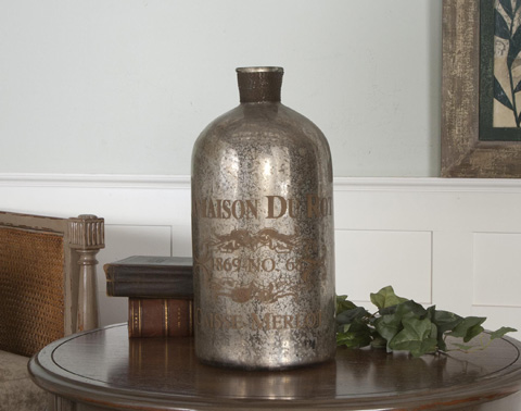 Uttermost Company - Lamaison Mercury Glass Bottle - 19752