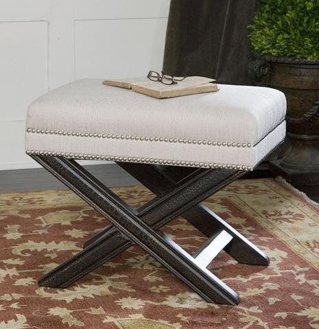Uttermost Company - Viera Sandy White Small Bench - 23076