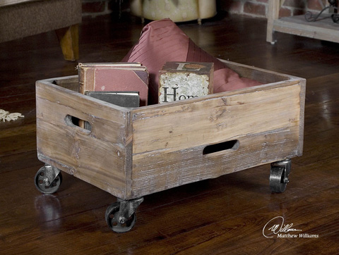 Image of Stratford Reclaimed Wood Rolling Box