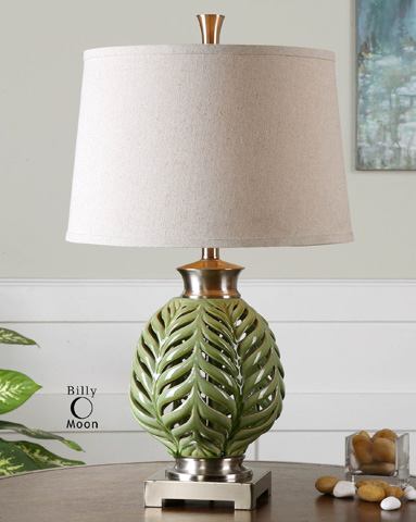 Uttermost Company - Flowing Fern Green Table Lamp - 26285