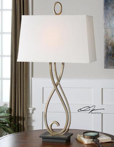 Uttermost Company - Ferndale Scroll Metal Lamp - 26341