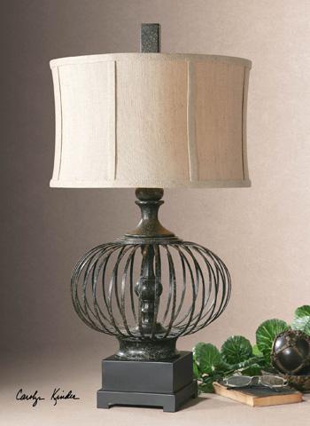 Uttermost Company - Lipioni Rustic Black Lamp - 26463-1