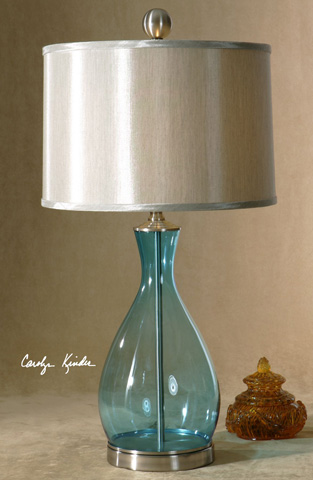 Uttermost Company - Meena Blue Glass Table Lamp - 27862-1