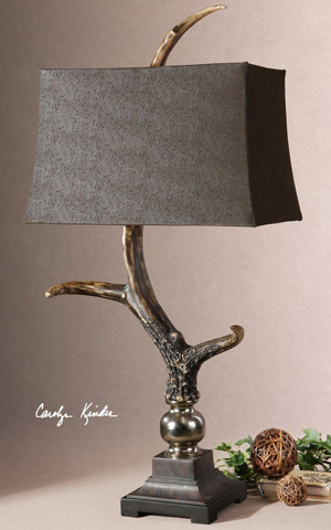 Uttermost Company - Stag Horn Dark Shade Table Lamp - 27960