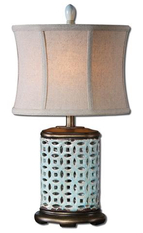 Uttermost Company - Rosignano Blue Buffet Lamp - 29925-1