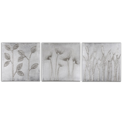 Uttermost Company - Sterling Trio Canvas Art - 34204