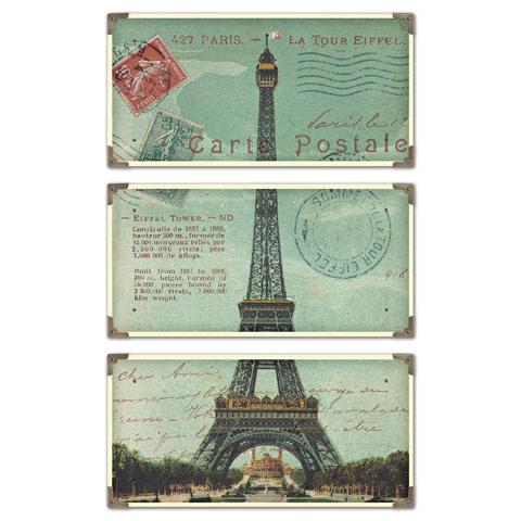 Uttermost Company - Eiffel Tower Carte Postale Art - 40917