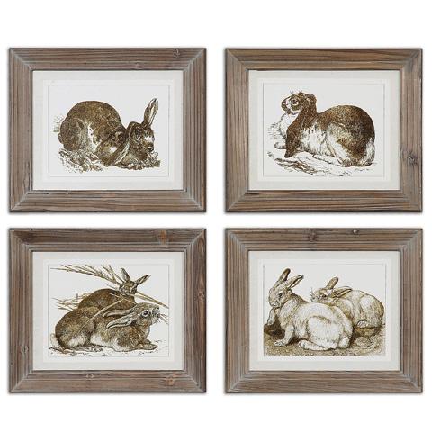 Uttermost Company - Regal Rabbits Framed Art - 41392