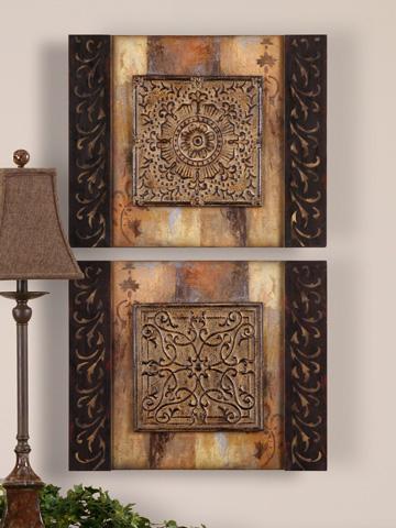 Uttermost Company - Ornamental Block Art - 51054