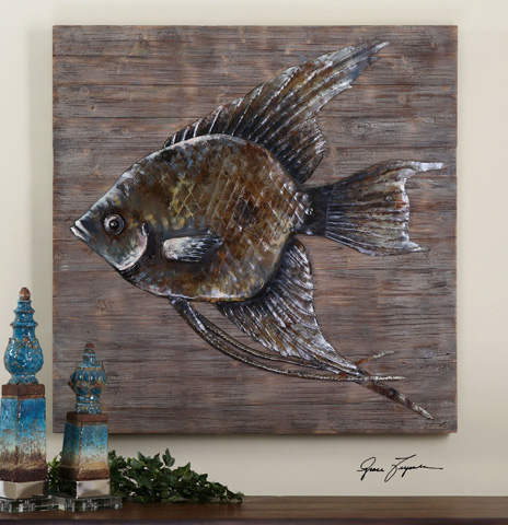 Uttermost Company - Iron Fish Wall Art - 04273