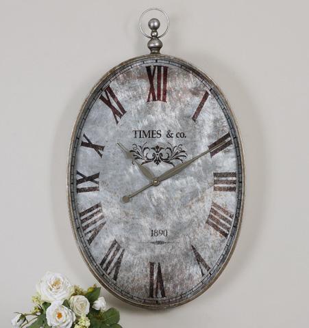 Uttermost Company - Argento Wall Clock - 06642