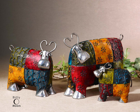 Uttermost Company - Colorful Cows Accessories - 19058