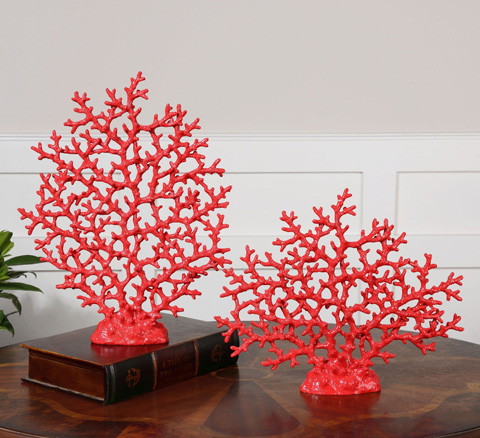 Uttermost Company - Red Coral Accents - 19801