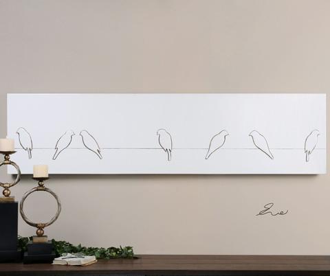 Uttermost Company - Gossiping Birds Wall Art - 34403