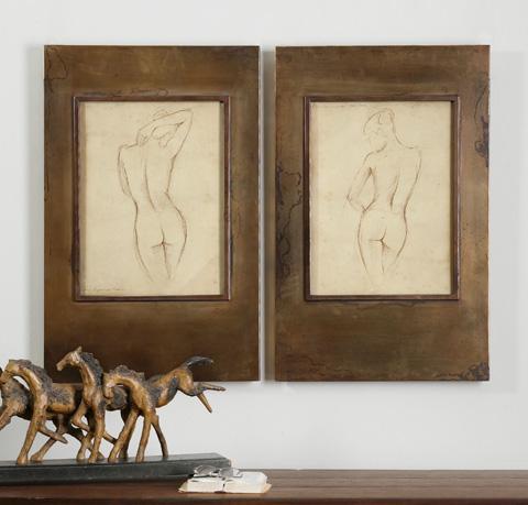 Uttermost Company - Bronze Figures Wall Art - 35236