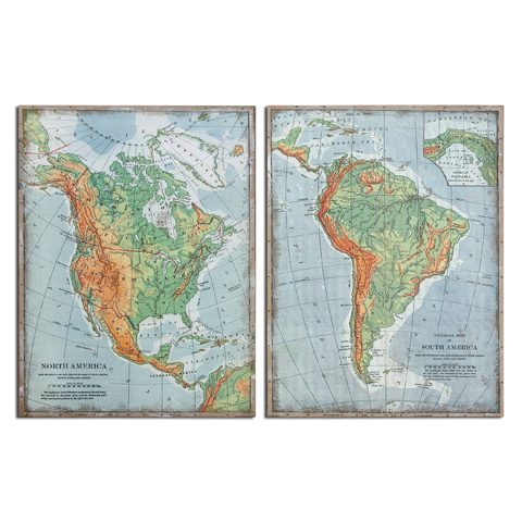 Uttermost Company - The Americas Wall Art - 55012